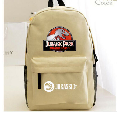Jurassic Park Backpack Boy/'s Bookbag Travel Shoulder Bag Kids Gift Rucksack 2019