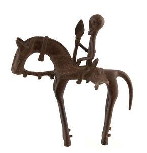Cavaliere-Dogon-Bronzo-Del-Mali-Arte-Africano-19-5-CM-Aa-1128