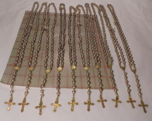 Miracle Commemorative Vintage Rosary Pearlized Beads on Chain Japan