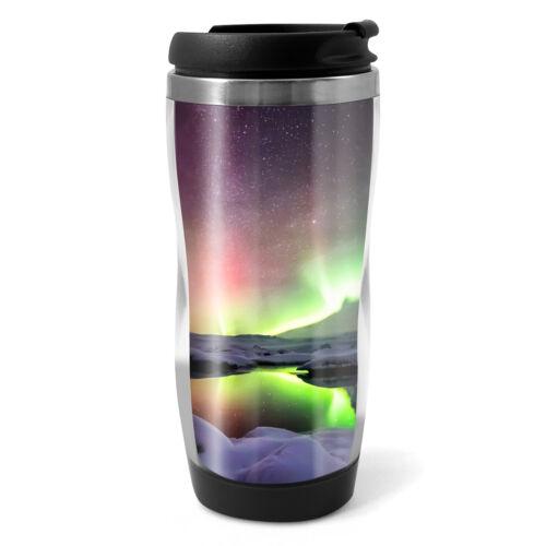 Aurora Borealis Travel Mug Flask 330ml Coffee Tea Kids Car Gift #8516