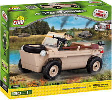BRICKS COBI 2188 SMALL ARMY VW Typ 166 Schwimmwagen 120 ELEMENT 1 FIGURES WW2