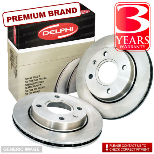 Front Vented Brake Discs Fiat Punto 1.3 JTD 16V Hatchback 2003-06 70HP 257mm