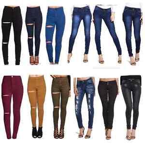 Freya Para Mujer Joni Super Vaqueros Azul Tubo Elastizados Ajustados Jeans Pantalones Reino Unido Ebay