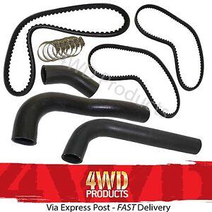 Radiator-Hose-amp-Belt-SET-for-Mitsubishi-Pajero-NJ-NK-2-8TD-4M40T-93-97