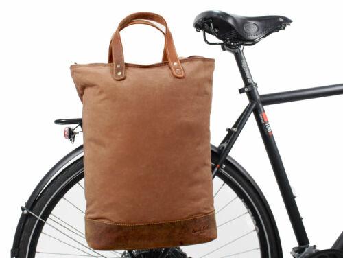 Fahrradtasche Gepäckträgertasche Shopper Ledertasche Braun Leder