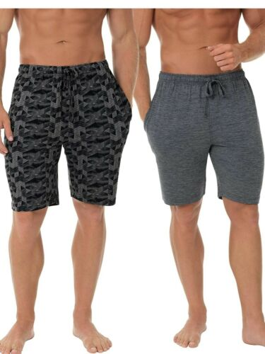 Fruit of the Loom Men/'s Knit Performance 2 Pack Soft Touch Wicking Sleep Short M