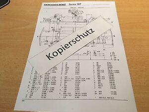 Massplan-Bodengruppe-Mercedes-W-107-350-SL-SLC-450-SL-450-SLC