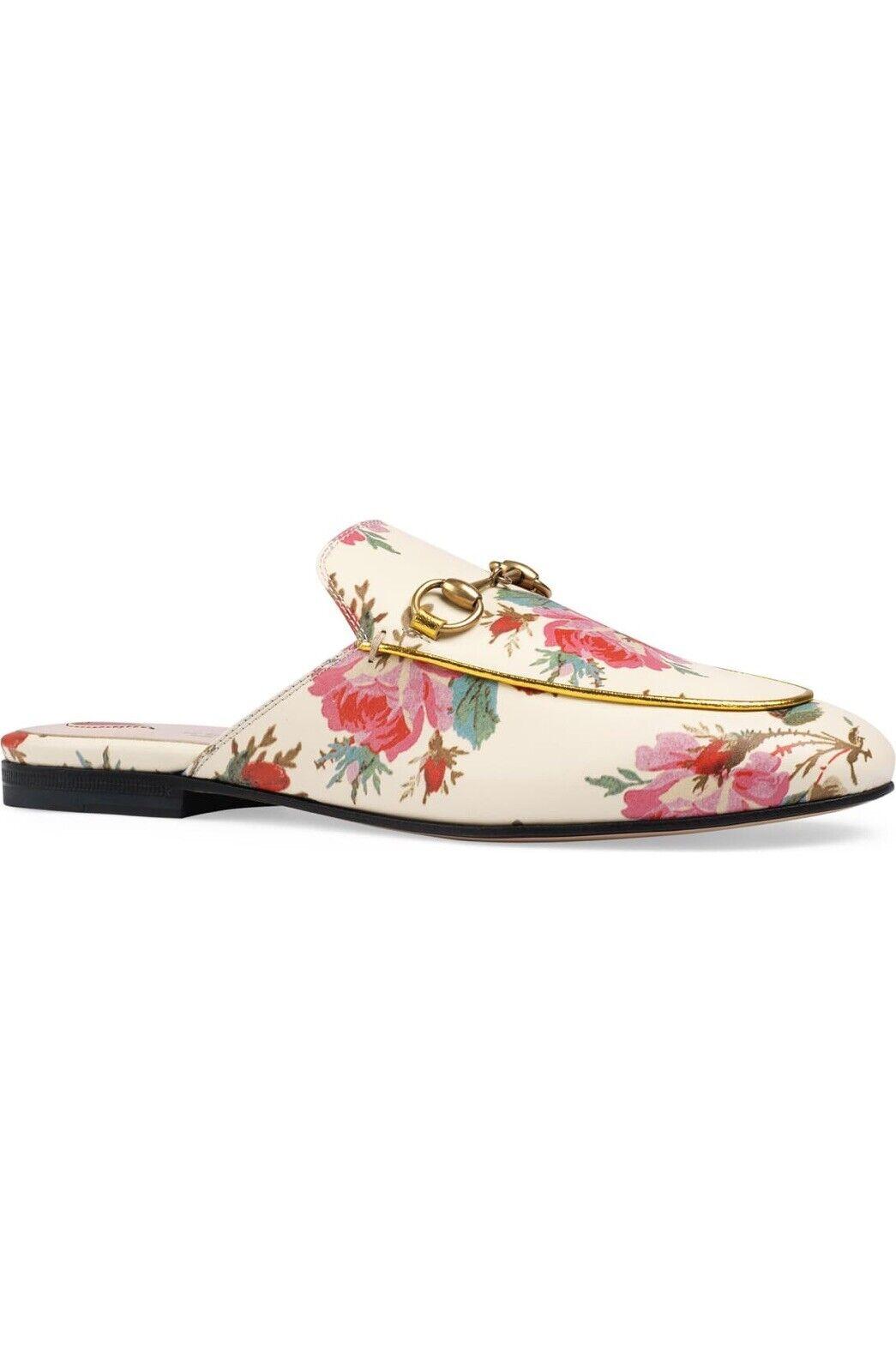 Rare Gucci Women Princetown Rose Floral Loafer Mu… - image 1
