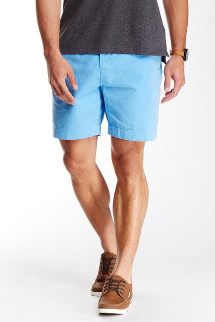 Nwt Tailorbyrd Uomo Carolina Cotone Blu Twill Basse Anteriore Classico Shorts 44