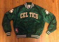 Vintage Starter Satin Boston Celtics Jacket Size XL Nba 80's 90's Bird