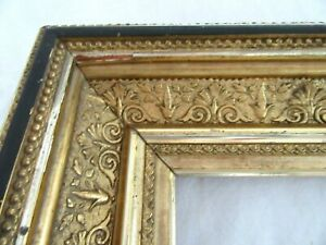 Antique-Fits-10-X-12-034-Lemon-Gold-Gilt-Picture-Frame-Wood-Ornate-Gesso-Fine-Art