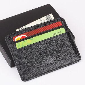 Mugen honda slim mini wallet genuine cow leather credit for Honda credit card