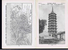 PICTURE ATLAS: CHINA & Surrounding Countries  - 1925 Prints