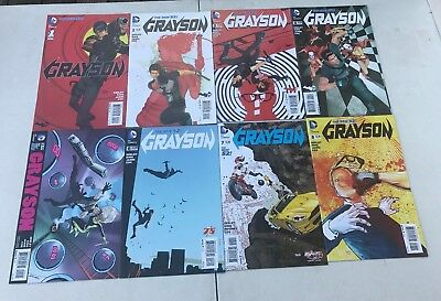 Reasonable Grayson 1-10 12 15 16 Annual 1 Dc Comics New 52 Vf/nm Pleasant In After-Taste Modern Age (1992-now) Collectibles