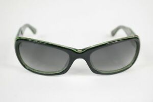 Vintage-Nici-Sun-06-Col-20-58-21-Black-Green-Oval-Sunglasses-NOS