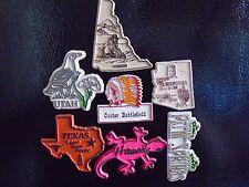 Lot Of Vintage 70's Rubber State Fridge Magnets #1