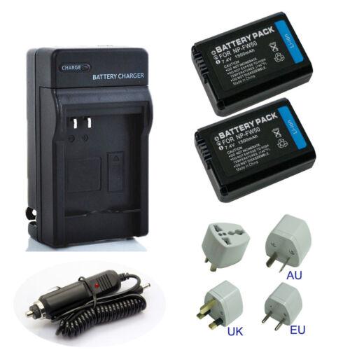 Nuevo Sony NP-FW50 Li-Ion Batería//Cargador Rápido Para Sony A6000 A3000 A5000 A6300