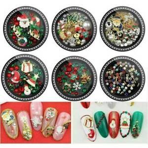 3D-Acrylic-UV-Gel-Nail-Art-Tips-Christmas-Gems-Bead-Jewel-Peal-DIY-Decor-Sticker