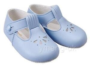 24761a78c6db2 Lovely Baby T bar Pram Shoes/Blue/White/Patent/BAY PODS/0/3/6/12/18 ...