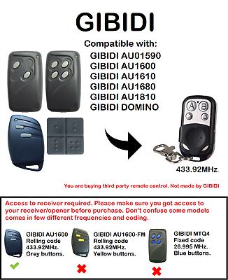 REMOTE CONTROL TRANSMITTER RADIO CONTROL GIBIDI DOMINO AU03000 GENUINE 4
