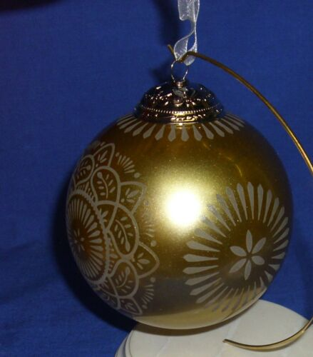 Hallmark Series Ornament Christmas Commemorative #4 2016 Gold Glass Ball NIB