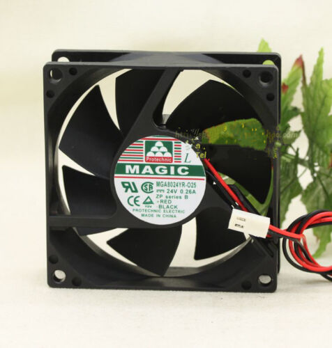 1pcs MAGIC MGA8024YR-O25 Fan 24V 0.26A 8025