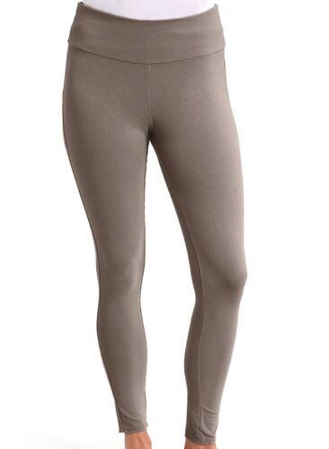 FRESH PRODUCE Large PORTOBELLO Brown Oceanside Stretchy Ankle Leggings $49 NWT L