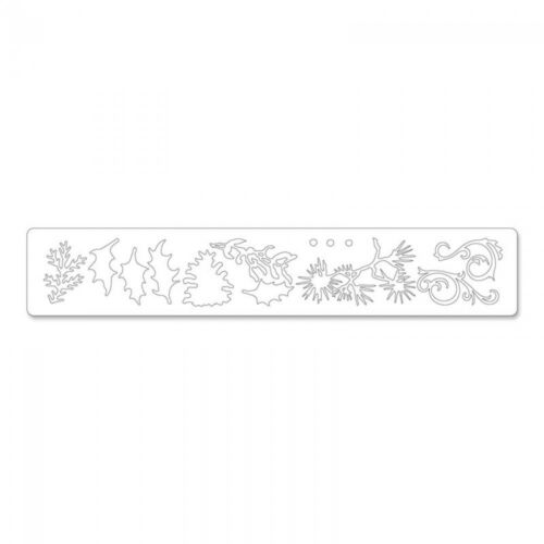 1 stanzschablone festive greenery flores decorative strip Sizzlits Sizzix 657467