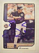 Joe McEwing signed Ny Mets 2002 Victory baseball card Auto Autographed Cardinals