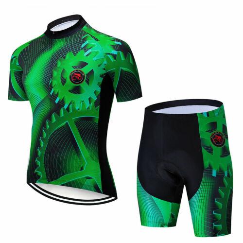 Herren Rennrad Bekleidung Kurzarm Fahrradshirt Radsport Shorts Radhose Kurz Set