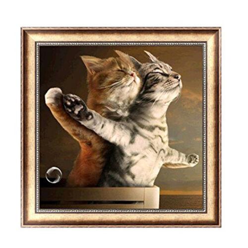 Romantico Gatti 5D Diamante Ricamo Pittura Punto Croce Decoratio Decorazion J6C5