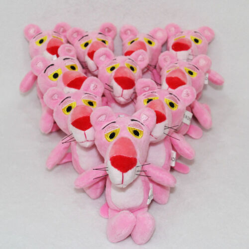 "10pcs wholesales The Pink Panther plush dolls ornament chains doll 4.8/"" U34"