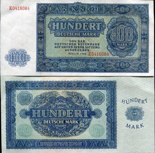 GERMANY DEMOCRATIC REP 100 MARK 1948 P 15 AUNC about AUNC