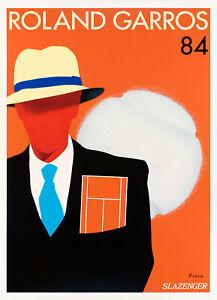 Original Poster-RAID-Roland Garros-Tennis-Paris-Championnat - 1984
