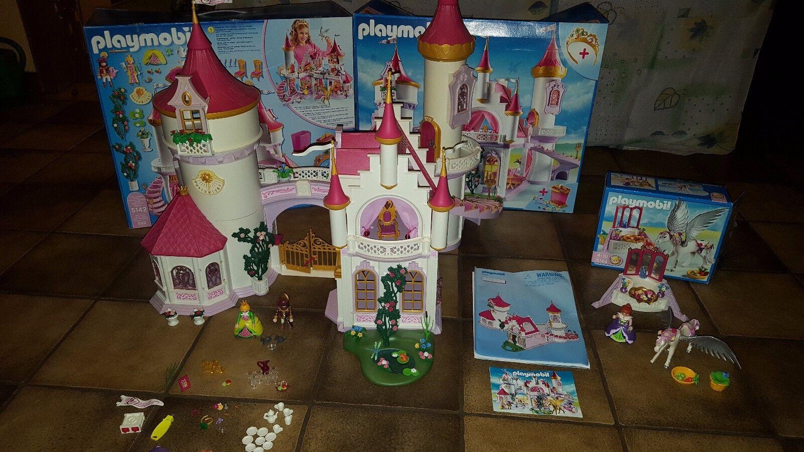 PLAYMOBIL - Prinzessinenschloss 5142 & Pegasus 5144 - sehr guter Zustand