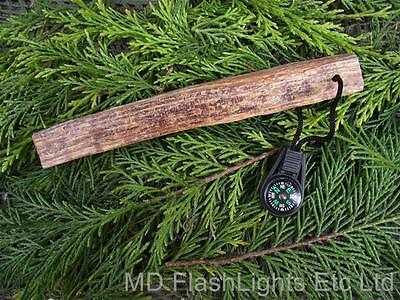 MD FATWOOD & MINI LIQUID FILLED BUTTON COMPASS FIRELIGHTING STICK FOR BUSHCRAFT