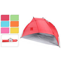 Beach Tent Family Tent Beach Camping Holiday Lightweight With Case & Carry Strap