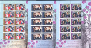 Ascension Island Ascension Island Royal Wedding Prince William And Catherine Middleton Sheet Set Stamps