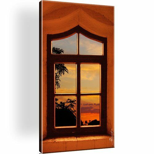 Fenster Horizont Baum Natur Bild Leinwand Kunstdruck Bilder Wandbild