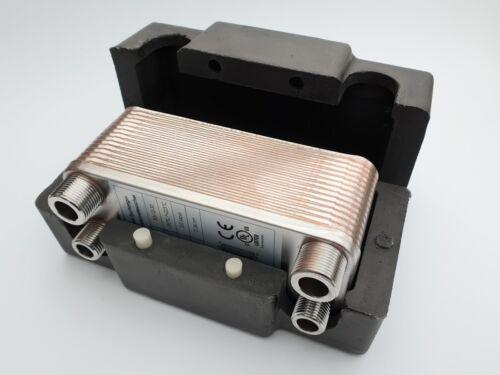 Edelstal Plattenwärmetauscher mit Isoschale B3-12-30 Wärmetauscher 30Platten