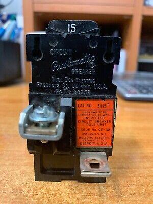 Bulldog 31115 Pushmatic 15 Amp Single Pole Circuit Breaker P115