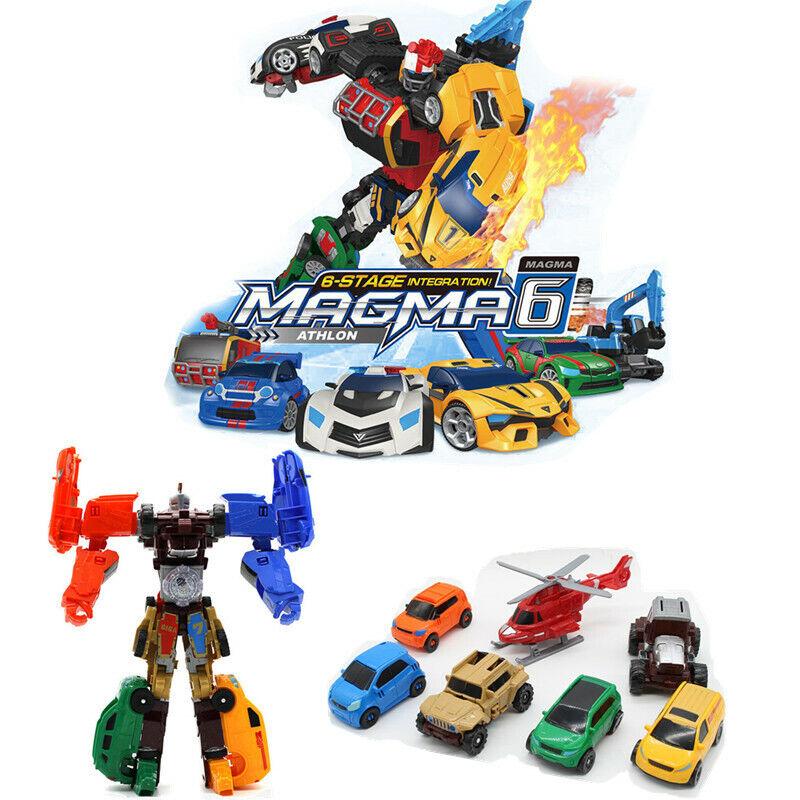 Tobot Giga 7 In 1 Cars Merge & Athlon Magma 6 Transformation Robot Kids Toys