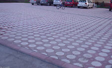 SET OF 2 CONCRETE PAVING INTERLOCKING GARDEN PATH BRICK PLASTIC FLOORTILE