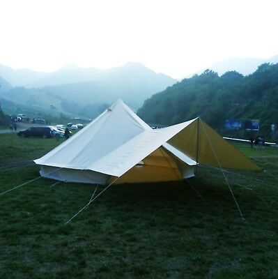 3M4M5M6M Glamping Canvas Bell Tent Waterproof Tipi Teepe Camping Yurt Tent Stove | eBay
