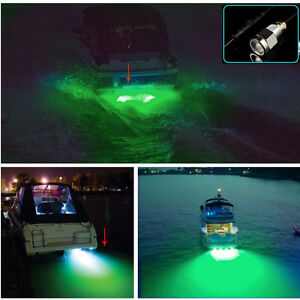 "green 6 led 1/2"" npt underwater boat drain plug light with, Reel Combo"