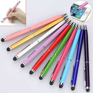 lotBlack-Touch-Screen-Ball-Point-Pen-2in1-Easy-Carrying-for-Cell-Phone-Tablet-PC