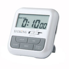 Pocket Talking Timer and Clock - English, Alarm, Loud, Countdown, Voice