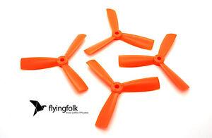 4x4.5 DAL Tri-Blade Bullnose Props CW CCW 4045 Propeller für FPV Naze32 Orange - Chemnitz, Deutschland - 4x4.5 DAL Tri-Blade Bullnose Props CW CCW 4045 Propeller für FPV Naze32 Orange - Chemnitz, Deutschland