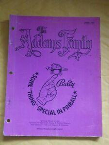 RARE Bally Addams Family Pinball machine ORIGINAL workshop manual NICE condition