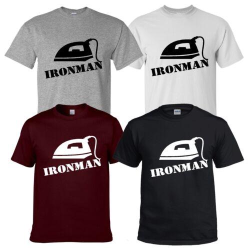 T shirt Ironman Drôle Parodie Iron Man Nouveauté tee cadeau de Noël Courir Cycle Natation